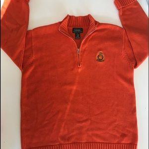 Ralph Lauren Orange Unisex Zippered Sweater